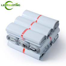 Leotrusting Milk White Poly Mailer Adhesive Envelope Bags Bolsa Courier Express Bag Plastic Milk White Gift Packaging Mailer Bag(China)