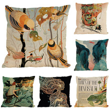 Creative Abstract Painting Pattern Pillow Case Linen Home Sofa Cushion Cover 45x45cm high quality seat back cushions