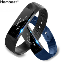 ID115 Smart Bracelet Fitness Tracker Step Counter Activity Monitor Band Alarm Clock Vibration Wristband for iphone Android phone(China)