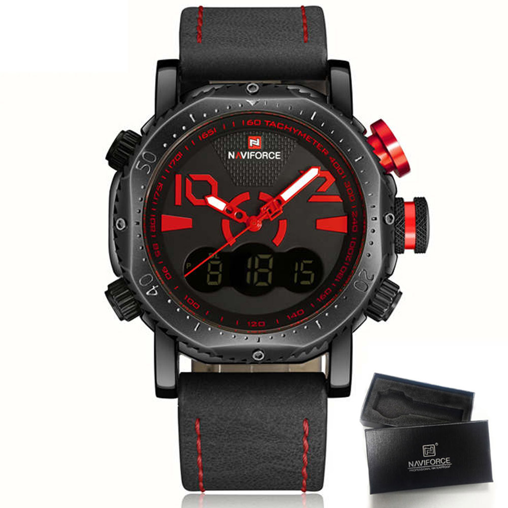 2017 Luxury Brand NAVIFORCE LED Digital Sports Watches Men Military Casual Watch Waterproof Relogio Masculino Men Wristwatches<br><br>Aliexpress