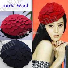 New Fashion Winter Hats Ladies fedora Cap Warm Stylish Dome Hats Wool Best Christmas Gift Discount Free Shipping