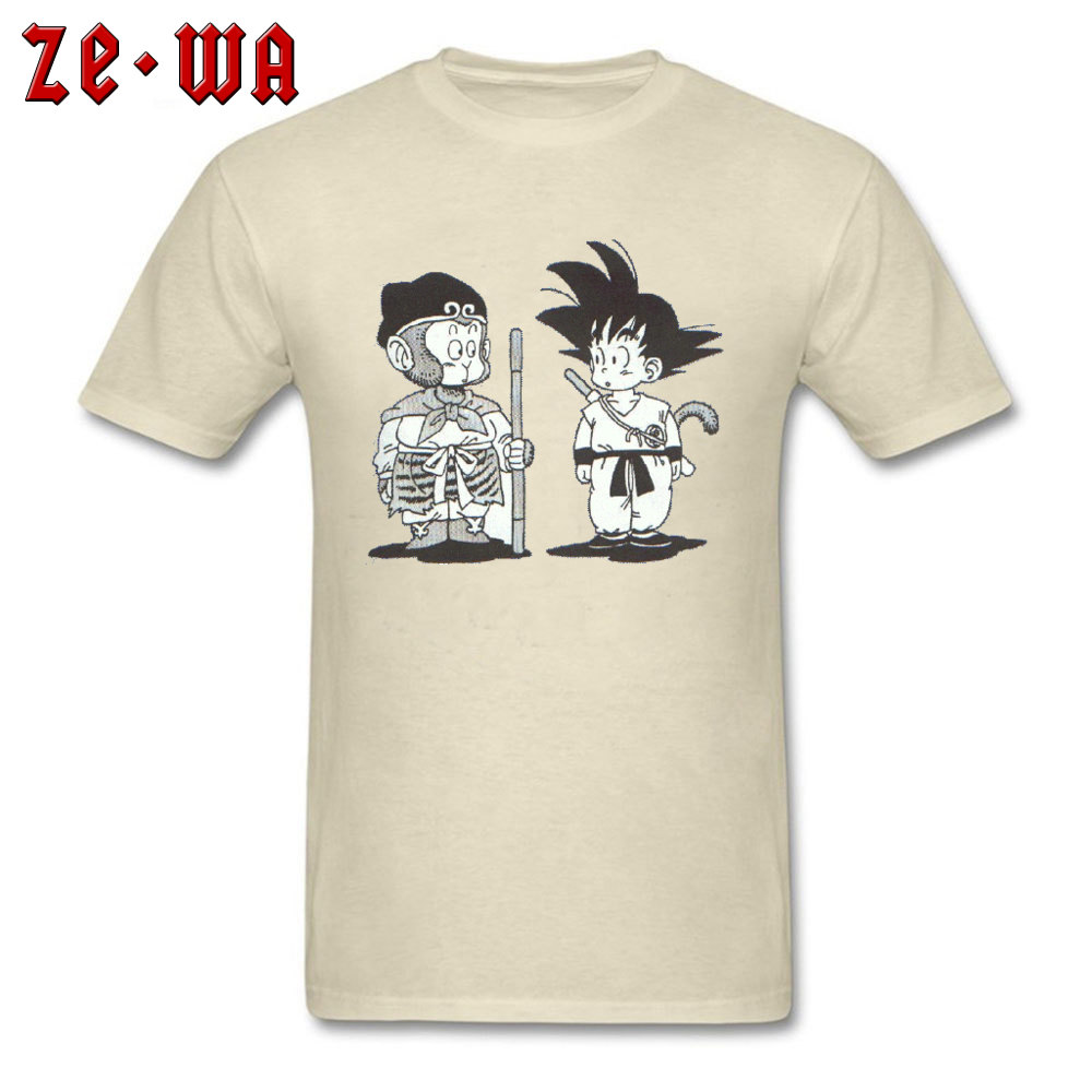 Casual3D Printed Short Sleeve T Shirt Summer/Fall Hot Sale O-Neck 100% Cotton Tops & Tees Men Tshirts Goku  Top Quality Goku beige