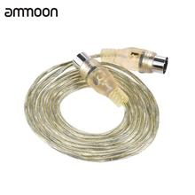 Professional MIDI Cable Extension Cable Copper Shielding Layer with Male to Male 5-Pin DIN Plugs 2 Meters/ 6.6 Feet