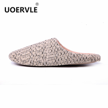 2017 NEW Spring Men's Slippers Woolen Home Couple Home Slippers Mens Keep Warm Indoor floor Shoes Non-Slip Plush Slippers Mens(China)