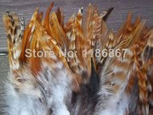 100pcs/lot natural chinchilla rooster Saddle Hackle Feathers 6-8'' /15-20cm Nature Grizzly Feathers for hair extensions