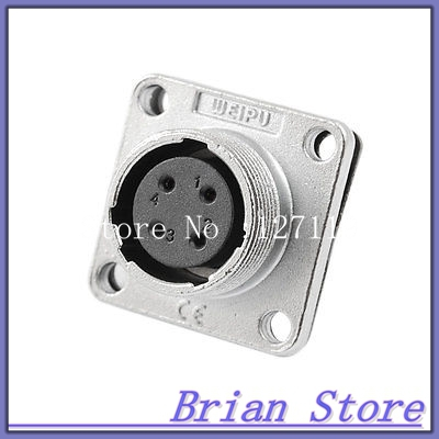 Panel Chassis Mount Female 1mm Dia 4 Pins Aviation Connector Adapter<br><br>Aliexpress