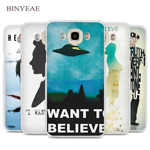 BINYEAE The X Files I want to believe Cell Phone Case Capa para Samsung galáxia J1 J2 J3 J5 J7 E5 E7 C5 C7 C9 2016 Prime 2017