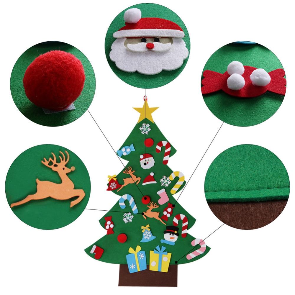 Ourwarm 18 DIY Felt Christmas Tree Pendant Drop Ornaments New Year Gift for Children Kids Door Wall Hanging Xmas Decoration 9