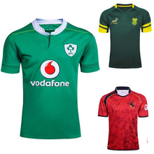 Ireland rugby shirt Espana Rugby Jerseys South Africa Rugby shirts Polyester jersey Breathable quick dry 2017 18 Men green S-3XL(China)