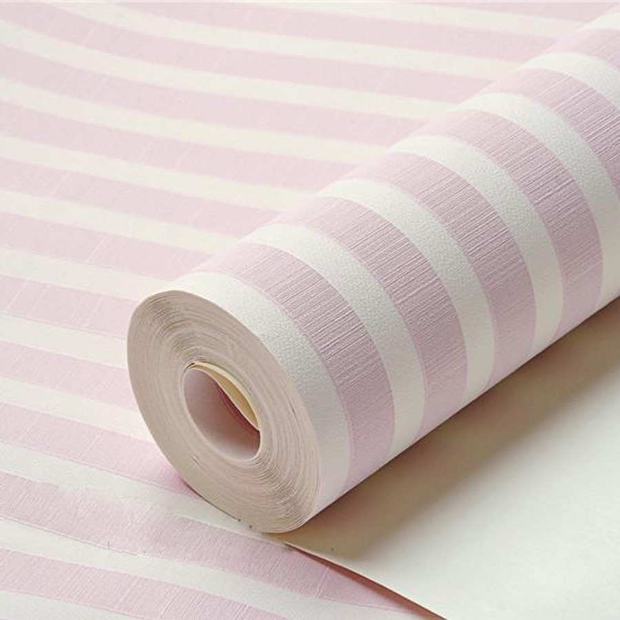 beibehang home decor plain childrens pvc striped wallpaper roll modern for kids room 3D wall paper roll boy girl wall coverings<br>