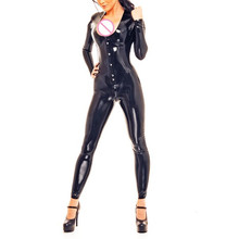 Buy Sexy Black Latex Corset Style Catsuit Latex Fetish Zentai Bodysuits Back Lace High Quality Rubber Catsuit