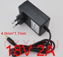 1PCS 18V 2A AC 100V-240V Converter Adapter DC 18V 2A 2000mA Power Supply EU Plug  4.0mm x 1.7mm