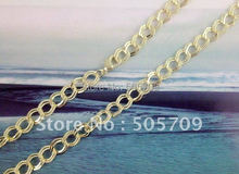 "6PCS Gold Color plate textured chain necklaces 24""#20795(China)"