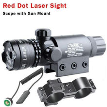 Tactical 5mw Red Laser Sight Rifle Scope Riflescope Designator 20mm Mount Tail Switch For Hunting(China)