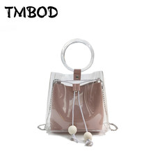 New 2019 Classic Small Transparent Tote Cross body Bag Women PVC   PU  Leather Handbags Lady Messenger Bags For Female an1162 c94124982662