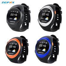 Original ZGPAX S888A Bluetooth Waterproof Smart Watch SOS GPS Tracking Smartwatch Anti-lost Alarm For iOS Android Phone Watches(China)