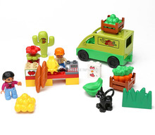 grocery market selling vegetables trafficked large blocks of small black cat markets Compatible With legoe(China)