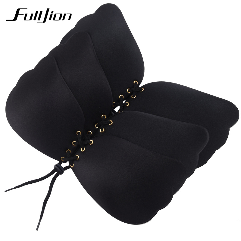 Fulljion New Sexy bra Women Self Adhesive Strapless Bandage Stick Gel Silicone Push Up Invisible Bra seamless Intimates bras 7