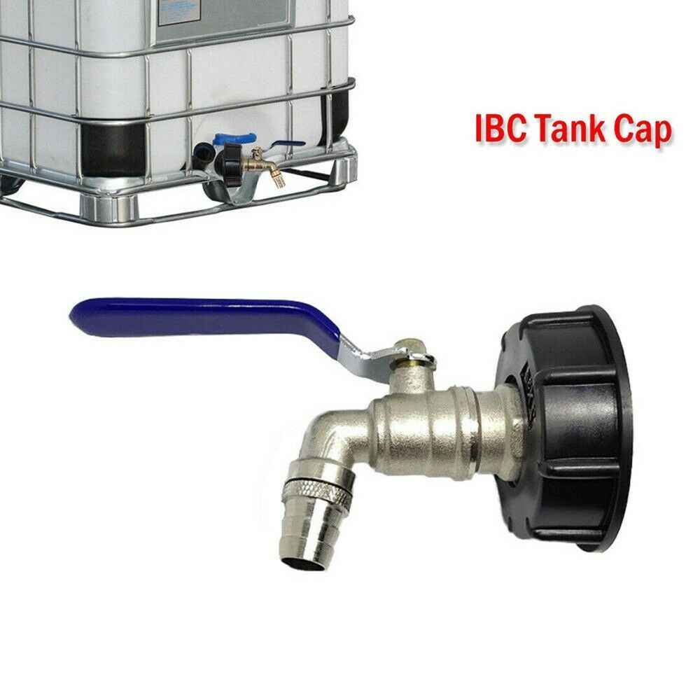 "2Pcs IBC 1000L Water Tank Tap Fitting Connector 3//4/"" Brass Hose Adapter"