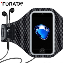 TURATA Universal Sports Arm Band Case For iPhone 6 6S 7 Plus Smart Touch GYM Running Fitness Phone Arm Band Accessories Cover(China)
