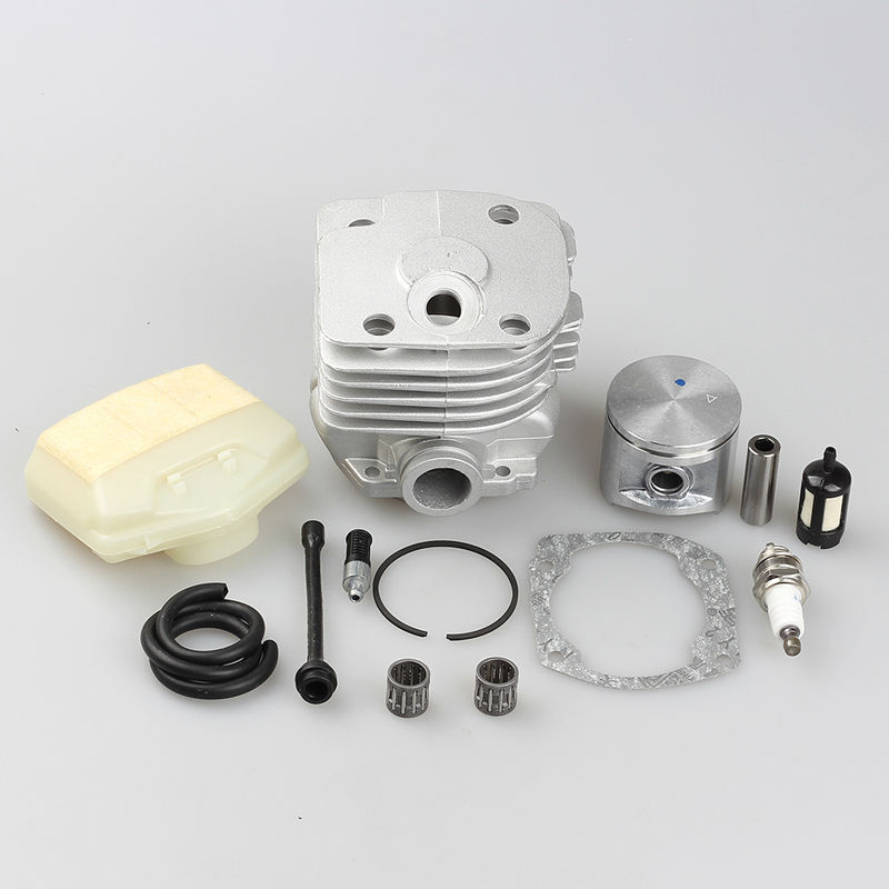 50mm Cylinder Piston Pin Bearing +Fuel line Filter Spark plug Kits for HUSQVARNA 362 365 371 372 372XP<br>