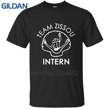 TEAM ZISSOU INTERN Life Aquatic Wes Anderson Bill Murray Classical tee shirts Outfit Homme Size Clothes t shirts O Neck