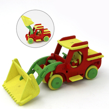 Jigsaw Early Learning Education DIY Screw Nut Group Installed Wooden Toys 3d Puzzle Disassembly Car Kids Toys for Children Toys(China)