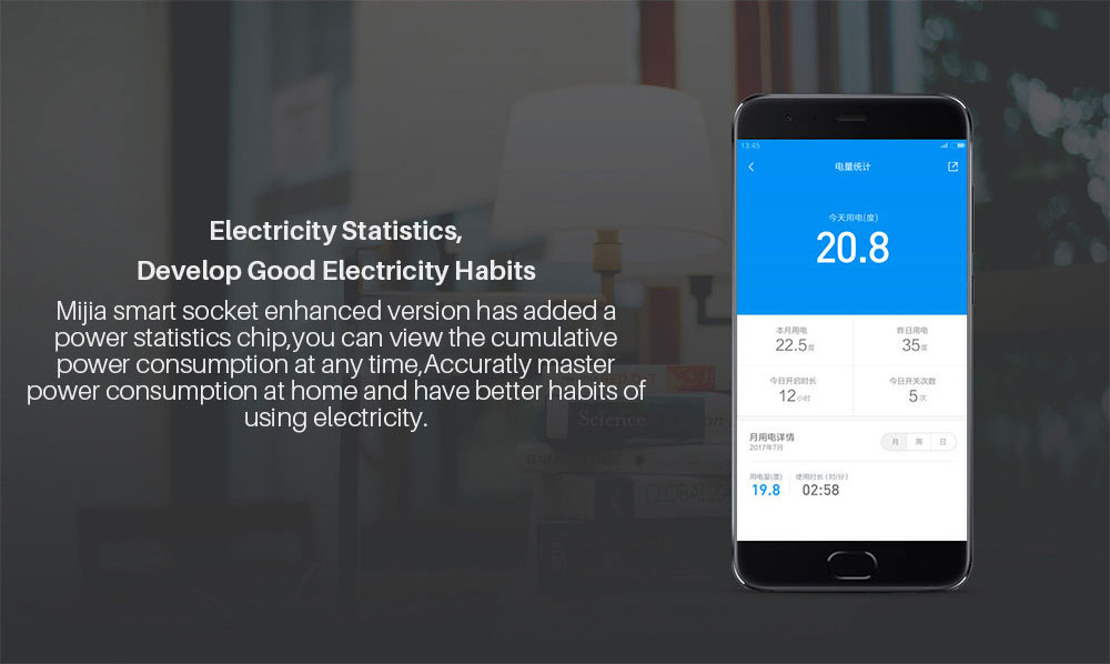 Xiaomi Mijia Smart wifi Socket Plug Enhanced Dual USB Fast Charger Timer Setting Electricity statistics Wireless APP Control (6)