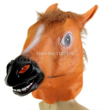 Horse Head Mask Latex Animal Costume Prop Gangnam Style Toys Party Halloween JJ2834