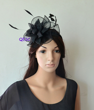 2017 NEW 8 colours Black Sinamay Fascinator for Races,Wedding,Kentucky derby.FREE SHIPPING