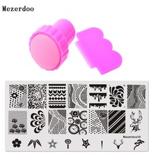 New Manicure Nail Template Stamp Plates Image Nails Art Stamping Plate and Scraper Stamper Set Lion Head Flowers Water droplets