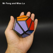 Black Color Megaminx Magic Cube Puzzle Strange Toy Children Educational Game Gift(China)
