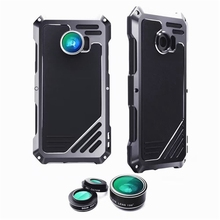 Phone Protective Case Shockproof Dirt-proof Cover + Three Cellphones Camera Lens for Samsung for Galaxy S7 Edge G9350 Portable