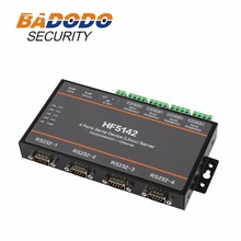 HF5142 4 Ports Serial Device(Linux) Server RS232/485/422 To Ethernet Support Web OTA Wirelss Upgrade(China)