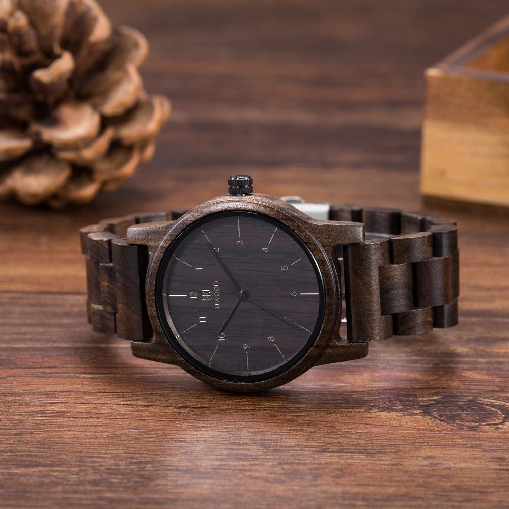 Luxury Top Brand Uwood UW3308 Men`s Wood Watches Men and Women Quartz Clock Fashion Casual Wooden Strap Wrist Watch Male Relogio<br>