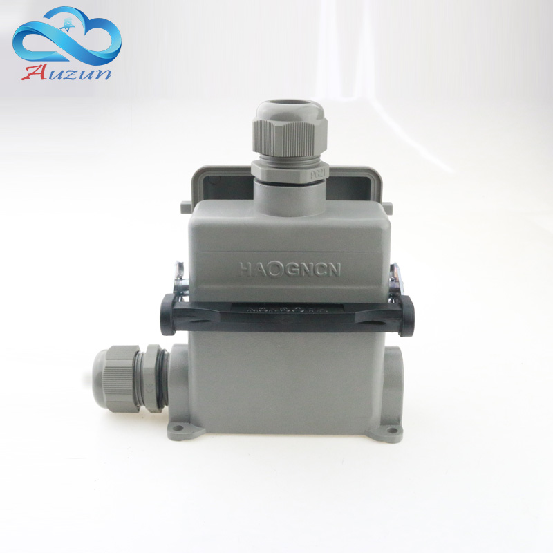 16 core H16B - HE - 016-4 heavy duty connector with cover  the high mountain side for a single button 16 a500v screw c<br>