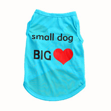 Wholesale Fashion Summer Cute Dog Pet Vest Puppy Printed Cotton T Shirt Ropa De Verano Para Perros Dog Vest Summer Dogs Clothing