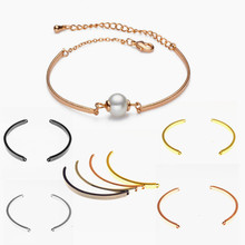 NEW Luxury DIY pearl beads bracelets bangles Charm Original jewelry pulseira chain bracelet connector making(China)
