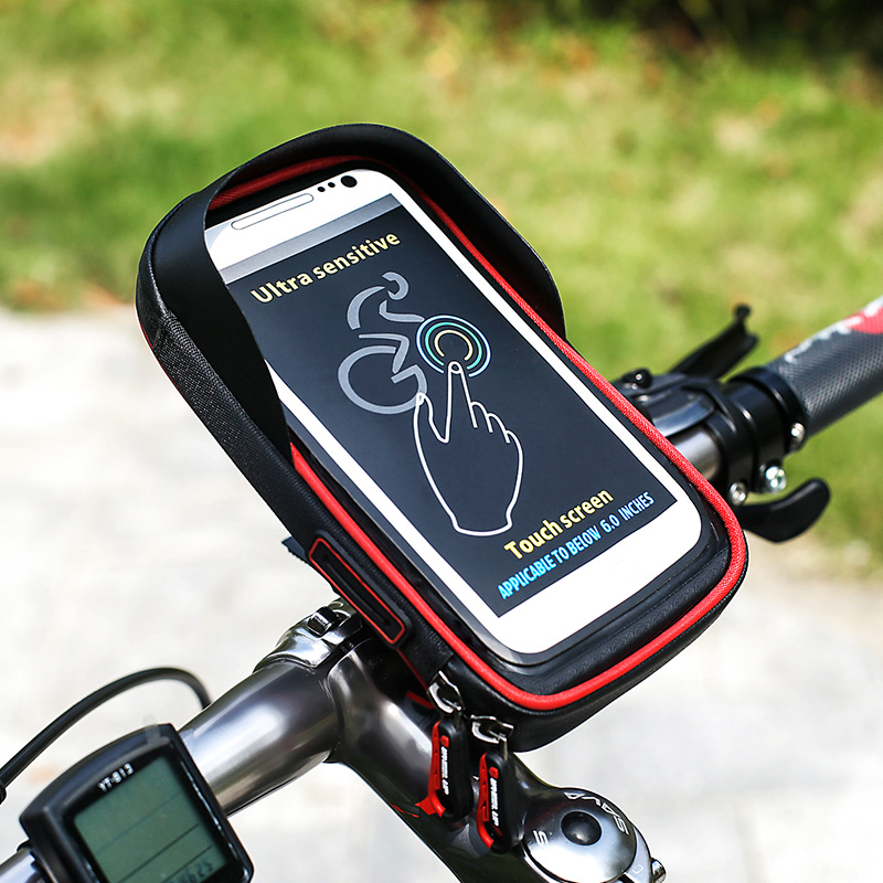 Motorcycle Bicycle package mobile phone support navigation frame mountain bike road vehicle front bag waterproof bag<br>