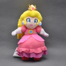 "Free Shipping EMS 30/Lot Super Mario Plush Stuffed Princess Peach Doll 8""(China)"