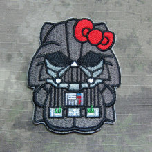 Hello Kitty  Darth Vader Kitty Military Tactics Morale Embroidery patch Badges B2727
