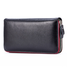 Real Genuine Leather Women Wallets Brand Design High Quality 2017 Cell phone Card Holder Long Lady Wallet Purse Clutch