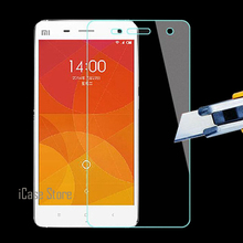 New Cheap 2.5D 0.26mm 9H Hardness Hard Phone Cell Front Tempered Temper Glass Cristal For Xiaomi Xioami Xiamo Mi4 Mi 4