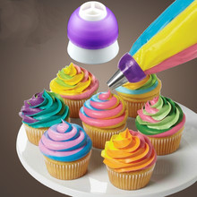 Icing Piping Bag Nozzle Converter Tri-color Cream Coupler Cake Decorating Tools For Cupcake Fondant Cookie 3 Hole 3 Color