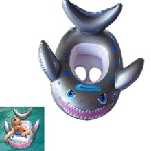 New Shark Shaped Kids Inflatable Baby Toddler Swimming Swim Seat Float Pool Fish Ring B2C Shop