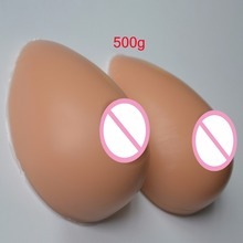 Buy New Fake Breast Forms Artificial Silicone Boobs Enhancer Realistic Chest Prothesis Dark-skin Color Man Shemale Crossdresser