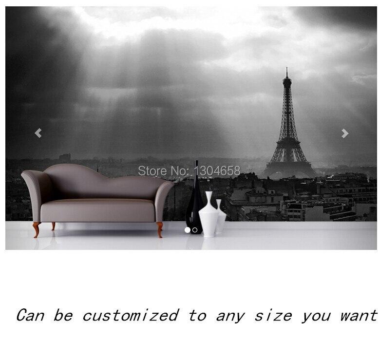 Free shipping custom murals Paris Black And White Mural bedroom, living room TV backdrop wallpaper<br><br>Aliexpress