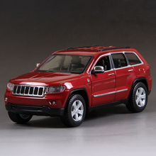 1:24 Diecast Model Car Grand Cherokee Diecast Model Metal SUV Vehicle Play Collectible Models Off Road Vehicle toys For Gift(China)