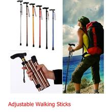 new 4 Sections Foldable Trekking Pole Walking Stick Hiking Camping Outdoor Supplies(China)