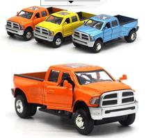 Sale High simulation Dodge Rams pickup,High quality car model,1:32 alloy pull back model,2 open door,free shipping(China)